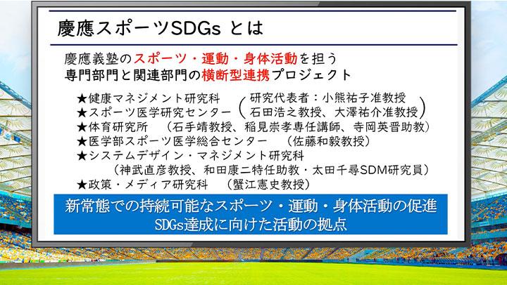 慶應スポーツSDGs ~新常態における持続可能なスポーツ・身体活動~